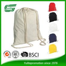 100 eco friendly cheap promotional cotton drawstring bag
