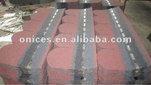 Fish scale of single layer asphalt shingle