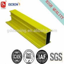 yellow powder coating 70 series aluminum profile for casement door