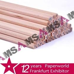 HB Hexagonal wooden pencil without eraser unsharpened