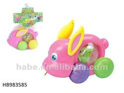 pull line pet rabbit , baby toys