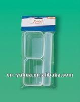 plastic Travel Sets 1pc soap holder ,1pc toothbrush houlder