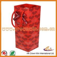 Promotional wine bottle paper gift bag