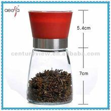 Manual Spice Grinder Glass Herb Pepper and Spice Grinder