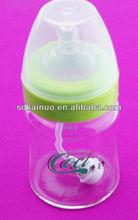 Custom BPA free baby glass milk feeding bottle