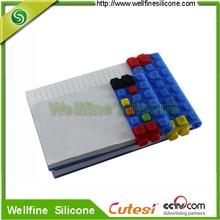 Custom fashion a6 15X10 cm paper silicone notepad