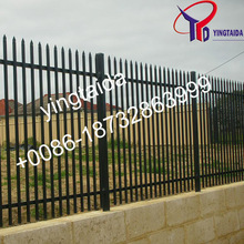 2015 hot sale professional powder coated iron fence / steel fence / metal fence