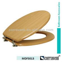 sanitaryware durable MDF veneer toilet seat MDF3013