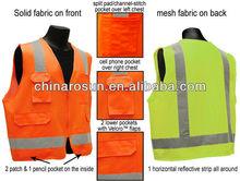 Hi Vis Vest Safety vest with pockets zipper closure
