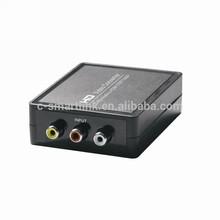 Composite RCA AV to HDMI Converter; AV (CVBS+R/L ) to HDMI Converter,convert analog signal to digital HDMI signal
