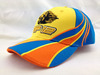 2014 Blue and yellow 100% Cotton Custom 3D Embroidery Baseball Hat