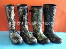 Hunting camo rubber rain boots