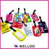bulk high quality soft pvc plastic luggage tag
