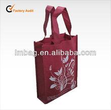 wholesale 2 bottles non woven wine bag