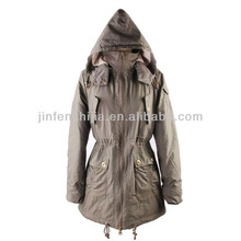 Lady's special cotton jacket, autumn outdoor jacket with hood