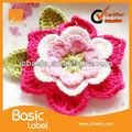 Flor crochet padrões, tiaras de flores, flor de malha