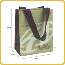 Able to bear weight flat handle cusotm 3 ply paper bag for shopping wholesale