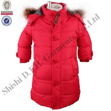 2013 New arrival warm winter Kid's long coat, children clothing
