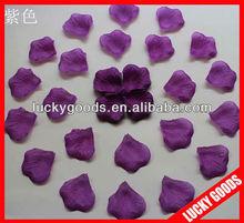 romanic dark purple rose petal confetti