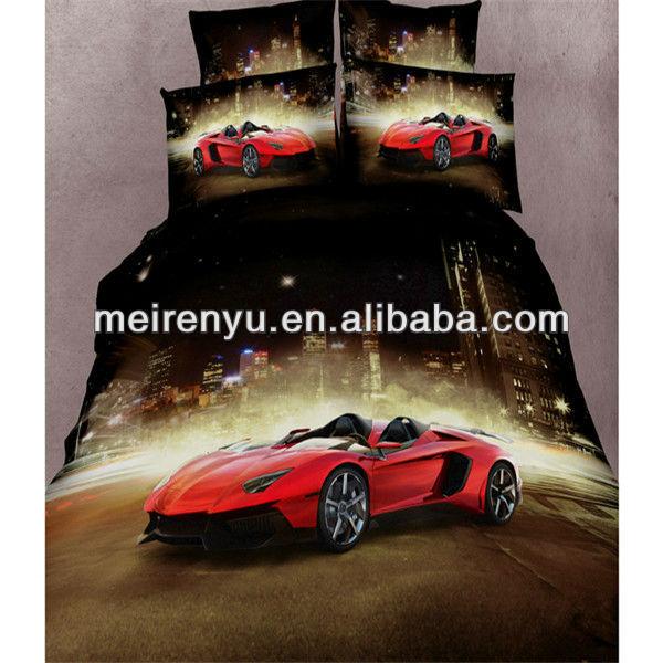 Chine 3d luxe voiture de course imprim e housse de couette - Housse de couette voiture de sport ...