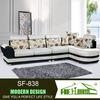 white l-shape 2014 modern style leather sofa,lining fabric for sofa,fabric sofa sets