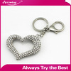 New Customized Crystal Rhinestone Custom Key Chain,Heart Keychain