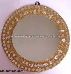 Home Decorated Mirror Ladies Makeup Mirror handleheld Handmade Lac work Fashion jewelry Indian handicrafts Gift Items
