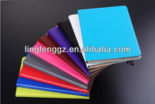 Good quality fashion design standing leather case for new ipad