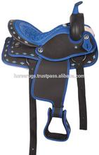 Blue Synthetic Saddle tack