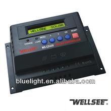 24v solar controller WS-C2430 30A charging regulation smart controles brand WELLSEE