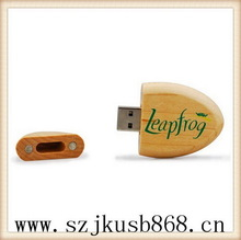 Most popular beautiful swivel wooden usb flash memory