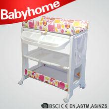 EN12221 baby changing station color changing bath mat