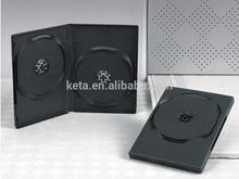 14mm Double Plastic Black DVD Case