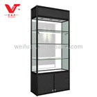 glass display cabinet with light