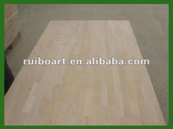 Paulownia/Pine/Fir/Rubber wood Finger joint board/Panel