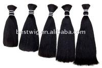 Hot Sell 22 inch virgin brazilian and peruvian hair bulk