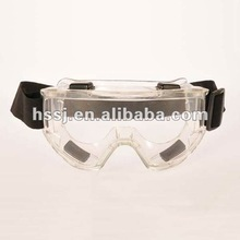 clear lens permanent anti-fog protective safety goggles