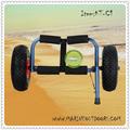 Alumínio de canoa e caiaque carrinho, canoa carrinho com rodas pneumáticas
