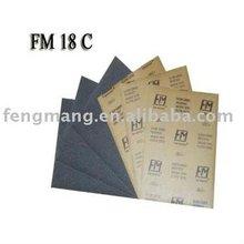 silicon carbide waterproof abrasive paper sheet(FM18C)
