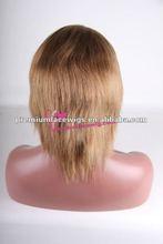 Top quality virgin human hair thin skin full lace wig