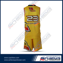 wholesale sublimation basketball jersey /custom basketball uniform design / basketball shorts