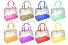 cute colorful transparent pvc handbag for girl