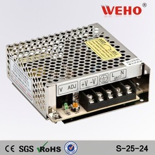 (S-25w-24)25w power supply 24v dc CE ROHS approved 25w led driver