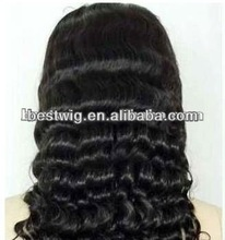 Hot sale!!!100% top quality indian human glueless lace front wigs the best price