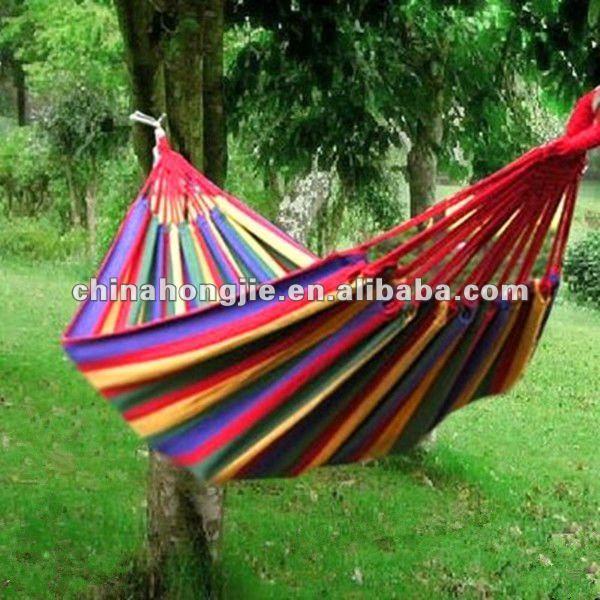 lightweight breathable 100% cotton jungle single hammock
