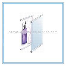aluminum poster hanger, poster clamp
