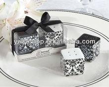 Damask Ceramic Salt & Pepper Shakers Wedding Gifts Wholesale