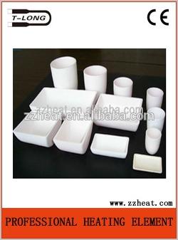 99.7% high purity alumina crucible for melting furnace