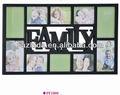 الأسرة 10-- افتتاح صورة سوداء الإطار/ إطار صورة كلية/ إطار خشبي للديكور المنزل