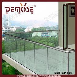frameless glass balustrade with aluminium channel
